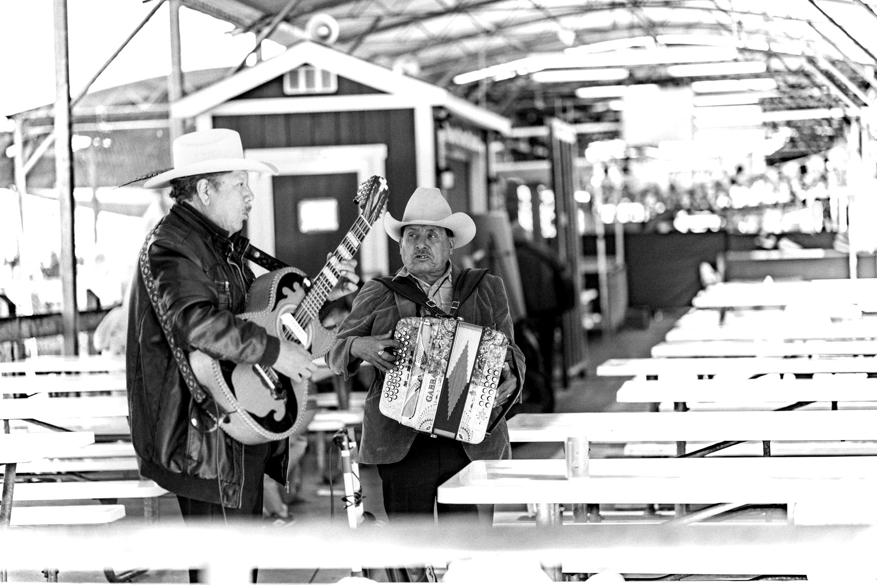 musicians at fish market